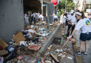 The team tackles homeless encampments.