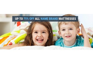 Up to 75 percent discount on luxury mattresses.