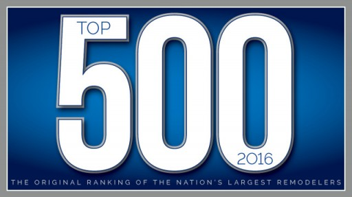 1-800-HANSONS Named #1 Exterior/Replacement Contractor in Michigan Based on the Qualified Remodeler's Top 500 Remodelers List for 2016