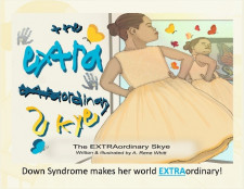 The EXTRAOrdinary Skye by Rene Whitt, children's book about Down Syndrome published by WordWhitts