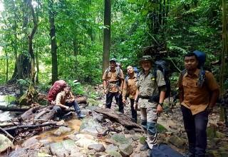 Patrol rangers from the Royal Belum National Park