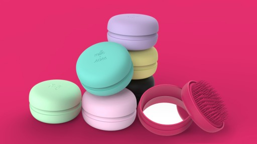 The Parisian-Inspired Detangling Delicacy: Milk + Sass® Releases Patented Macaron for Hair®
