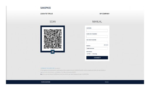 TSplus Integrates SAASPASS and Provide Multi-Factor Authentication