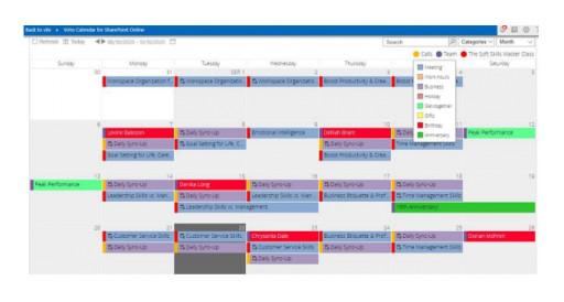 Virto Calendar Overlay for O365 and Microsoft Teams by VirtoSoftware
