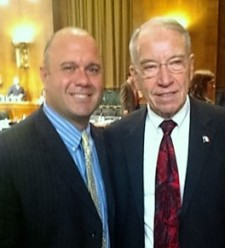 Andre Hurst and Senate Judiciary Chair Chuck Grassley