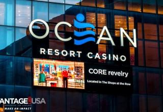 Ocean Resort Casino Entrance Display
