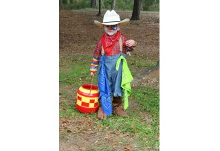 Clowning Around at Texas State Railroad's Pumpkin Patch