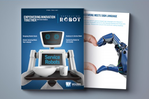 Mouser Electronics and Grant Imahara Present New 'Generation Robot' E-Book Focused on Service Robots