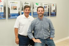 PHOTO CREDIT: Lori Sax of Business Observer. Joe Esposito, left, and Erik Rohrmann have high hopes for fast sales growth at Sarasota-based Newswire.