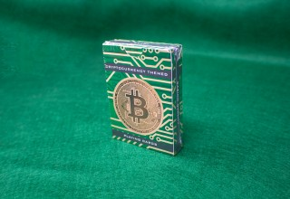 Cryptocurrency-themed playing card tuck box packaging
