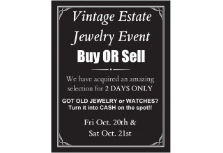 Estate, Vintage, and Jewelry Event Sale at Lewis Jewelers