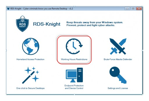 RDS-Knight Provides Working Hours Restriction to Control Remote Access
