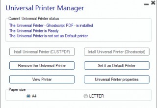Universal Printer settings Manager - RDSWebAccess