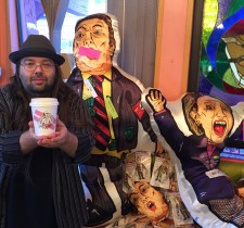 Life Size Clinton & Trump Voodoo Dolls with Artist