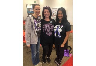 Author Melissa Swanson and members of the Support Fibro Team