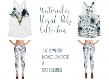 Doe Winter - Watercolor Floral Boho Collection