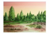 Cane Creek Valley watercolor painting
