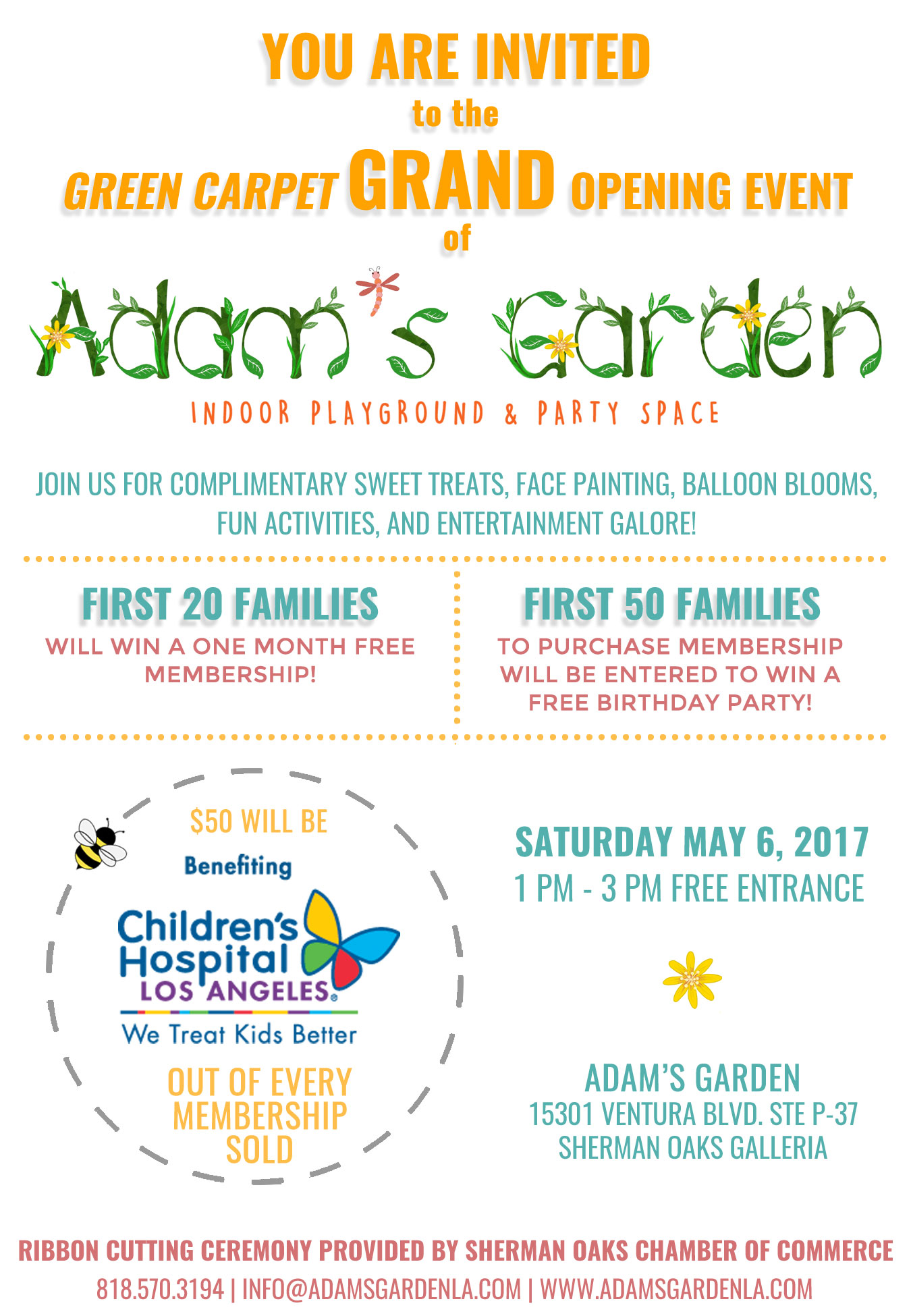 Adams garden launches first location at sherman oaks galleria with invitation stopboris Gallery
