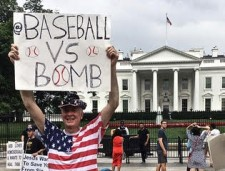 Baseball versus Bombs at the White House