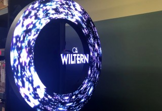 Circle LED Video and a Floating Video