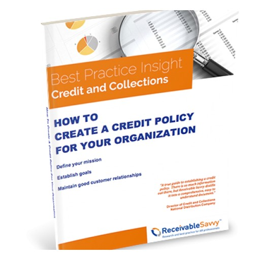Receivable Savvy Publishes Step-by-Step Guide for the 33% of Companies With No Written Credit Policy