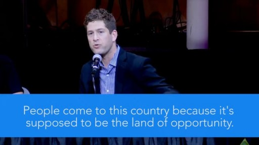 Watch Mike Tolkin stand up for religious freedom in NYC.