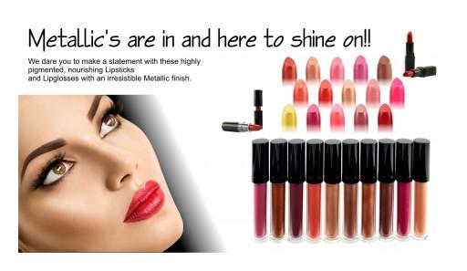 Audrey Morris Cosmetics International Features Metallic Lipsticks and Lip Gloss