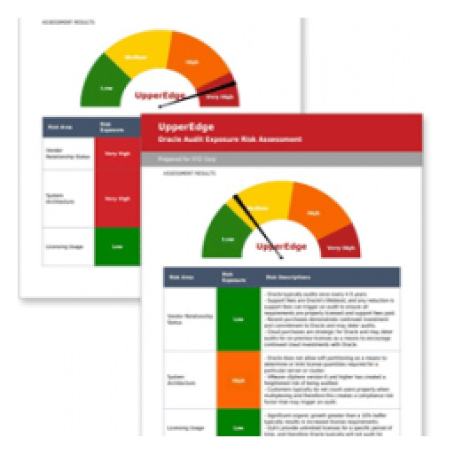 UpperEdge Rates Audit Risk for Oracle Customers