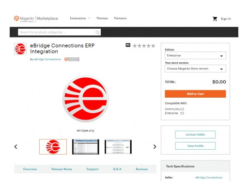 eBridge Connections' ERP Integration Extension is Now on Magento Marketplace
