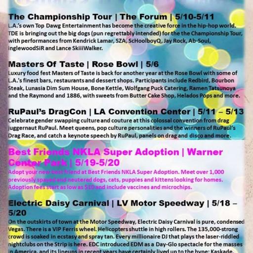 TENTEN Wilshire: Local Events in May