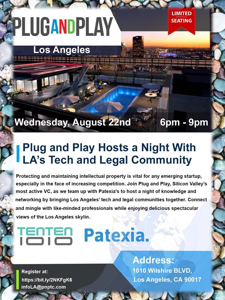 Los Angeles August 21 2018 Newswire On Wednesday Aug 22 From 6 00 To 9 P M Plug And Play Silicon Valley S Most Active Vc Will Team Up