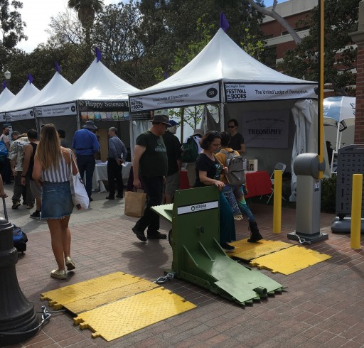 Vehicle Barriers Promote Public Safety Debate During LA Times Festival of Books at USC