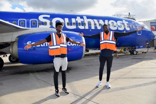 Orlando Magic Players Jonathan Isaac and Mo Bamba Help Celebrate Magic's Partnership With Southwest Airlines