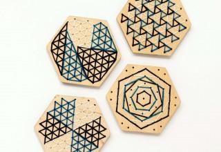 Stitchable Coasters Modern Stitch Kit