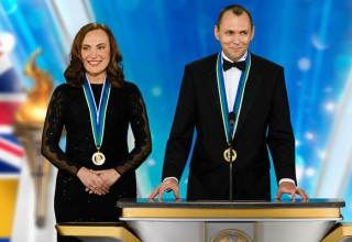 Freedom Medal Winners  Anton Batalin and Anastasiia Vilinskaya