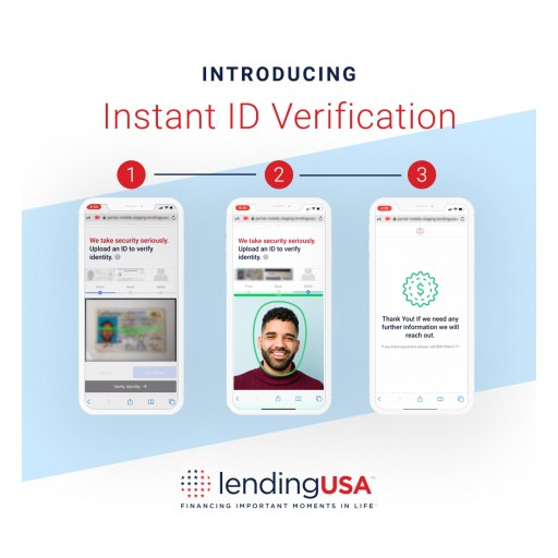 LendingUSA™ Continues to Innovate, Launching Instant ID Verification Feature