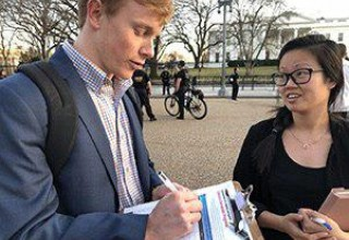 Volunteers gather signatures for petition to ban coercive conversion programs