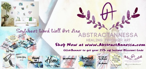 "AbstractAnnessa.com Releases ""Saw Wheat"" Quote Wall Décor Line"