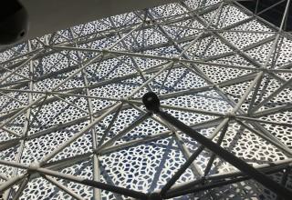 Space frames are a lightweight yet rigid, truss-like steel structure built from interlocking struts in a geometric pattern