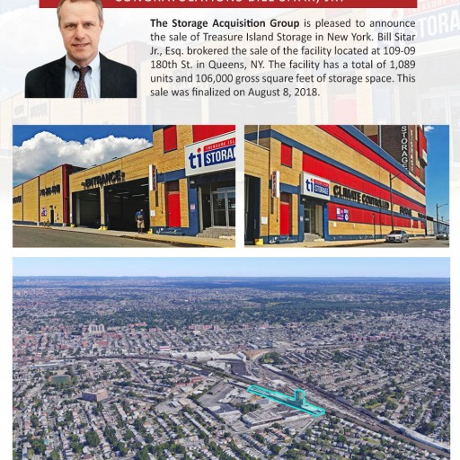 The Storage Acquisition Group Announces the Sale of Treasure Island Storage in Queens