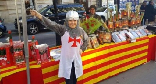 Spanish Scientologists Celebrate Sant Jordi Festival With Books and Roses