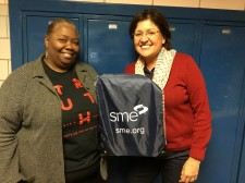 Westside Christian Academy Science Teacher, Pamela Talley, signs up for the SME High School Educator Membership with Natalie Lowell, SME