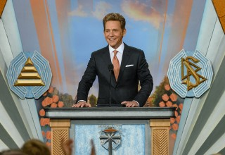 Mr. David Miscavige, ecclesiastical leader of the Scientology religion, presides over the exuberant celebration of Amsterdam's new Church of Scientology on the city's Knowledge Mile.