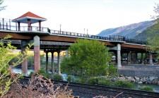 The Glenwood Pedestrian Bridge as seen from the historic train depot