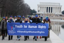 Young advocates at Lincoln Memorial