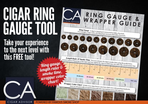 Famous Smoke Shop Bows Downloadable Cigar Ring Gauge & Wrapper Guide