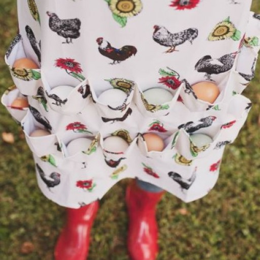 Egg Gathering Apron® and Egg Collecting Apron® Made by Fluffy Layers® is the Perfect Accessory for Spring Farming