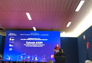 Zainab Azim delivers Inspirational Talk at International Space Conference