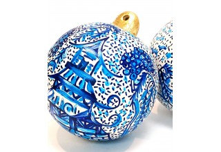 Hand Painted Chinoiserie Christmas Ornament