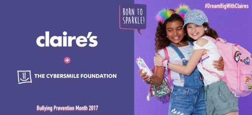 ​The Cybersmile Foundation and Claire's Join Forces for Bullying Prevention Month